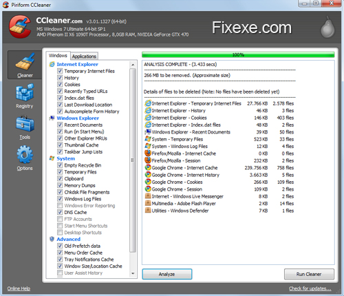 CCleaner Five Free Ways to Improve PC Performance