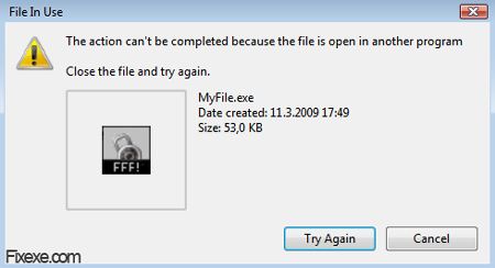 file in use Cant Delete Exe Files from Desktop