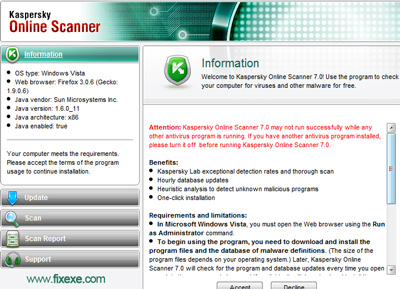 kasperksy online scan Best online Virus Scanners