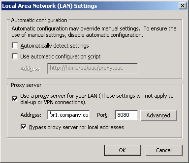 proxy settings proxy settings