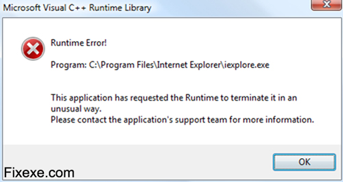 runtime error Fix Runtime Error