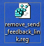 windows 7 registry editor version Remove the Send Feedback Link from the Title Bar in Windows 7