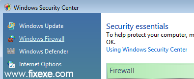 windows security center Turn off Windows Firewall in Vista