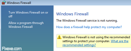 windows vista firewall Turn off Windows Firewall in Vista