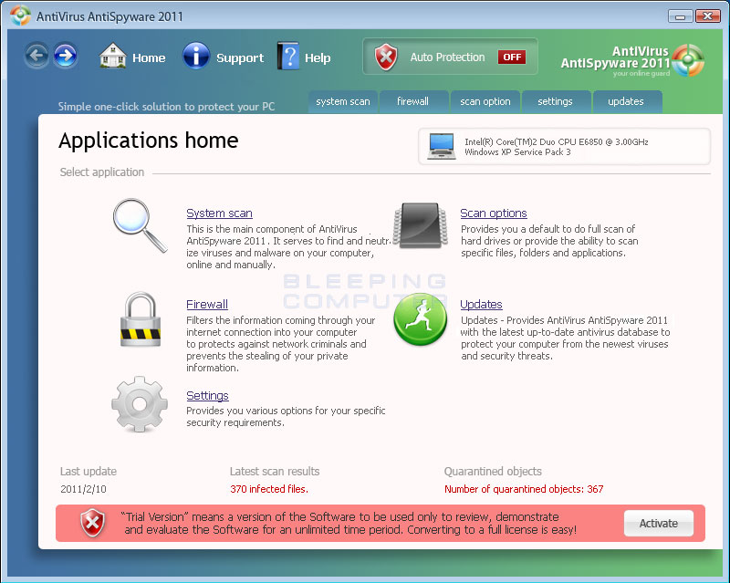 Antivirus AntiSpyware 2011 Virus
