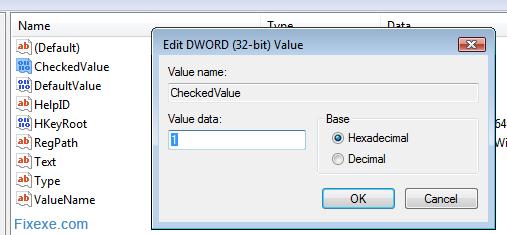 CheckedValue DWORD
