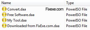 DAA files
