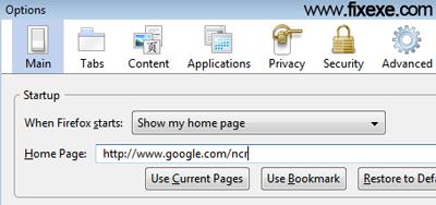 Google.com default search egine