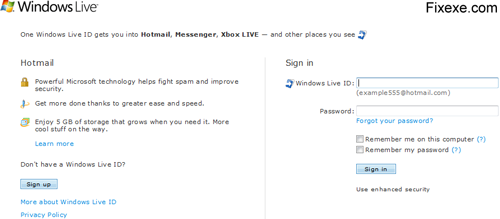 Hotmail in Firefox