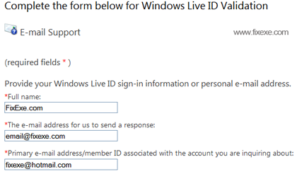 Windows Live ID Validation